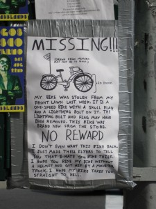 Missing Bike - Click to View Full Size