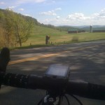 70 degrees&sunnyRT132 NorwichVT to NH and a bucket of flowers too for those riding by! - from @mdkoff