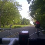 This pic May 5, My beautiful wife and the green of SouthEast Indianapolis, IN RIDE ON! - from @sortoot
